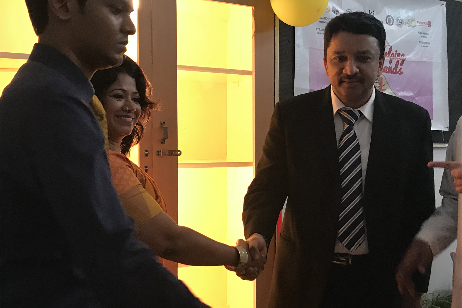 Dr SM Balaji at SRM Dental College Rotaract Club