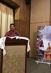 Mr. Lhab Dorji addressing the gathering at the summit
