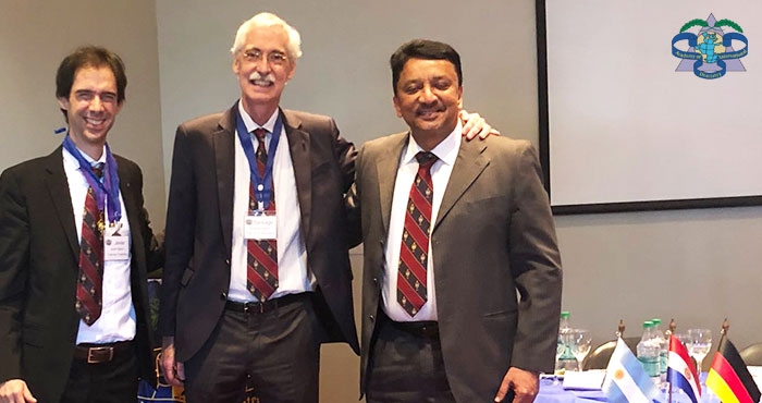 Dr SM Balaji with Dr Javier Fontelo and Dr Santiago, Organizers of the Latin American chapter of the ADI convocation in Buenos Aires