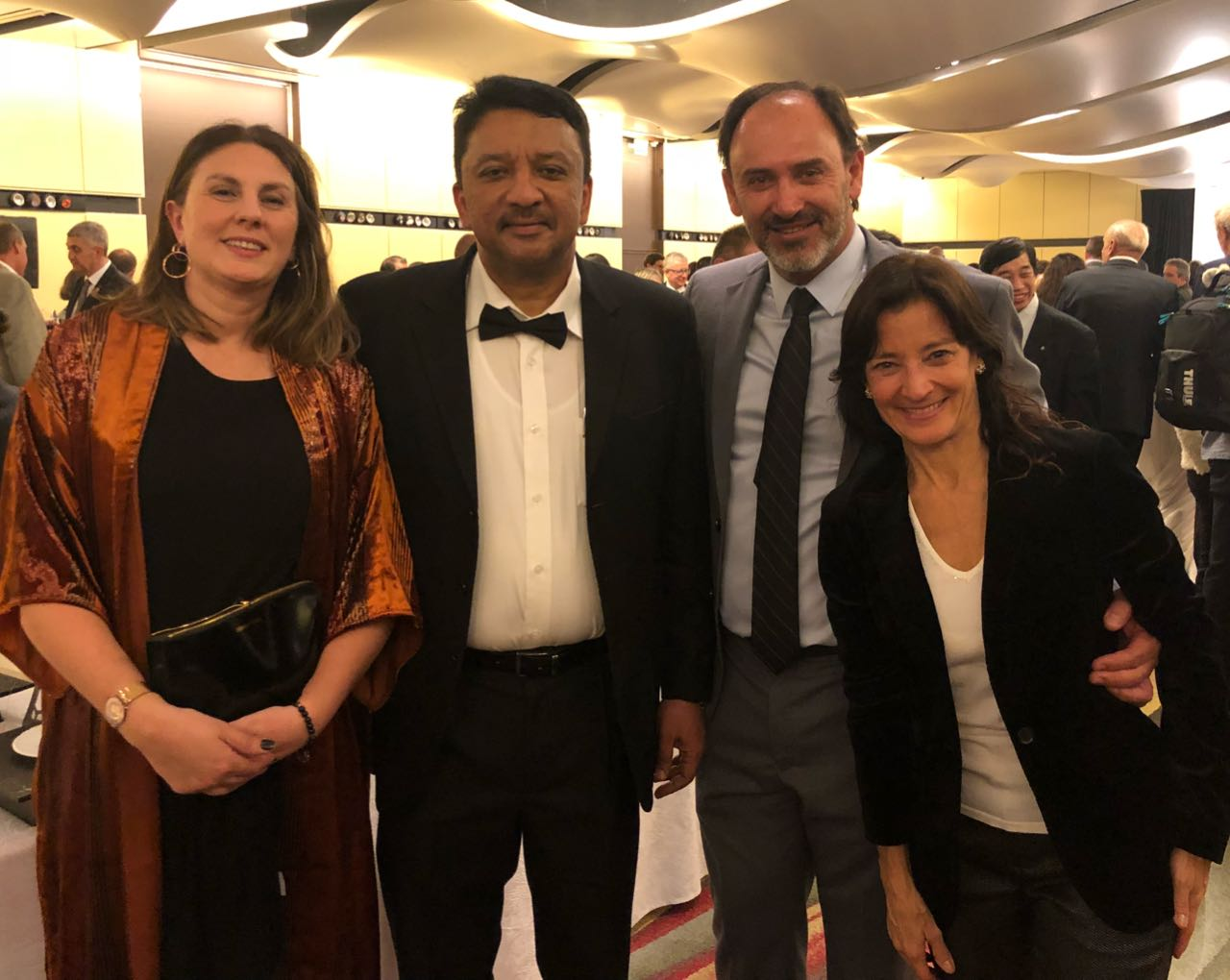 Dr SM Balaji with Dr Maricel Marini, Department of Oral and Maxillofacial Department, University of Buenos Aires, Prof Sergio Gotta, Head of the Department of Oral and Maxillofacial Surgery, University of Buenos Aires and Dr Victoria Pezza, Head of the Department of Oral and Maxillofacial Surgeon, Aleman Hospital, Buenos Aires at the inauguration ceremony of the FDI Annual World Dental Conference in Buenos Aires