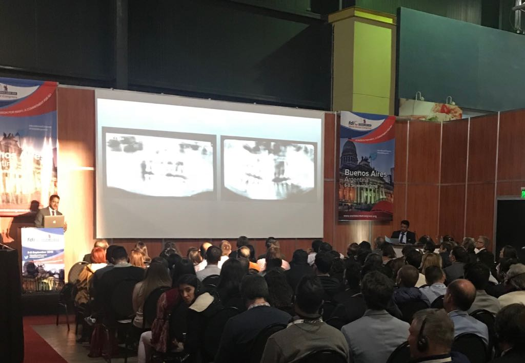 Dr SM Balaji moderating a plenary session at the FDI World Dental Conference in Buenos Aires