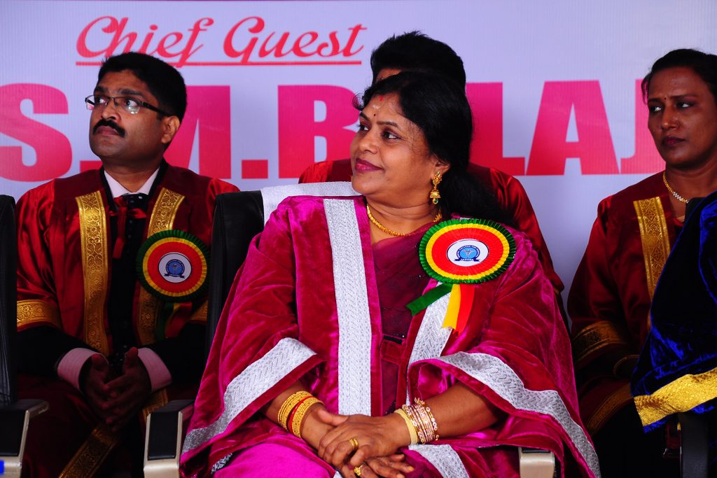 Prof Mala during Dr SM Balaji's speech