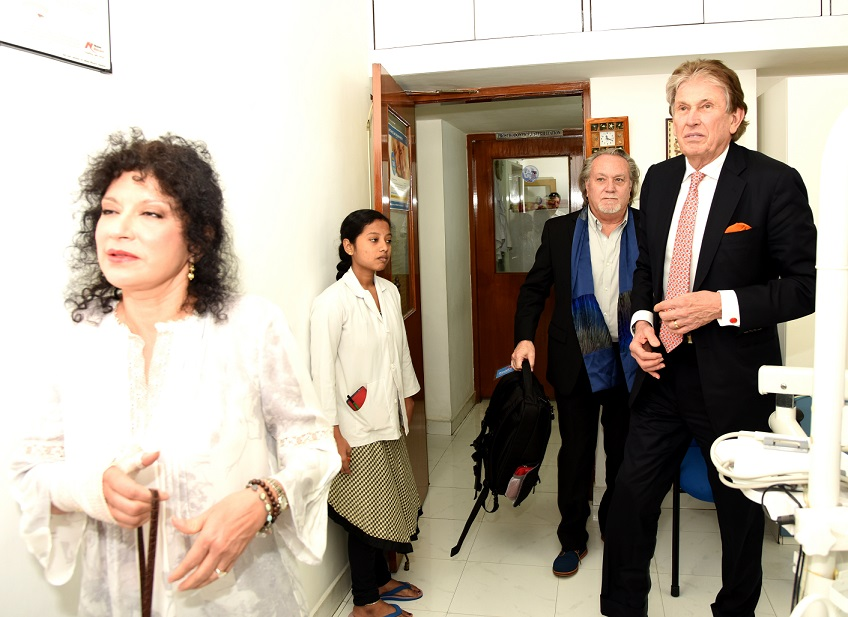 The visiting delegation – Dr. Kenneth Salyer, Mrs. Salyer and Mr. Russell Martin