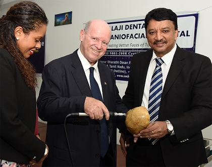 Alain St. Ange, Minister of Tourism & Culture, Republic of Seychelles, inaugurated the newly commissioned Craniotome
