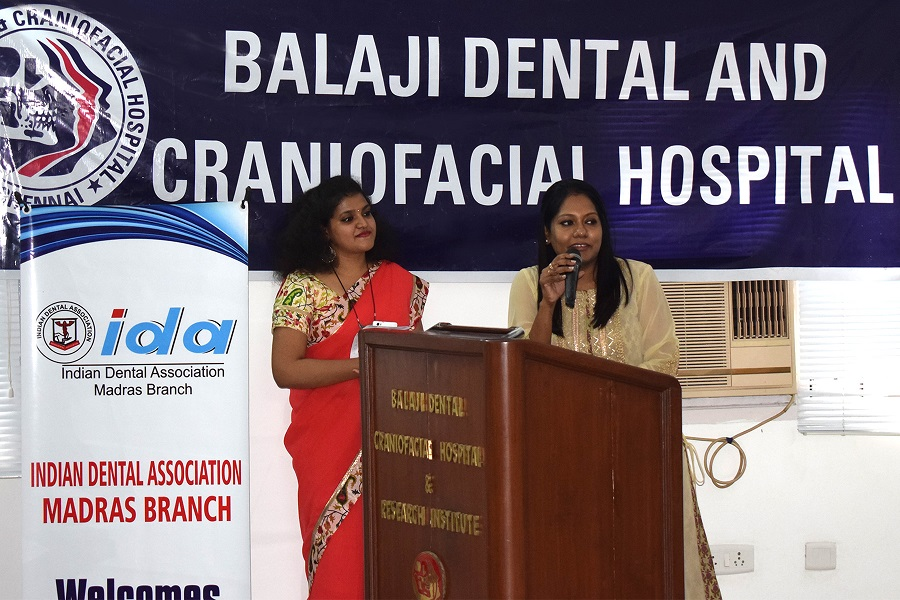 Dr Priya Prabhakar, Secretary, IAGFO, one of the faculty at the CDE, welcoming the dignitaries and the audience to the CDE program