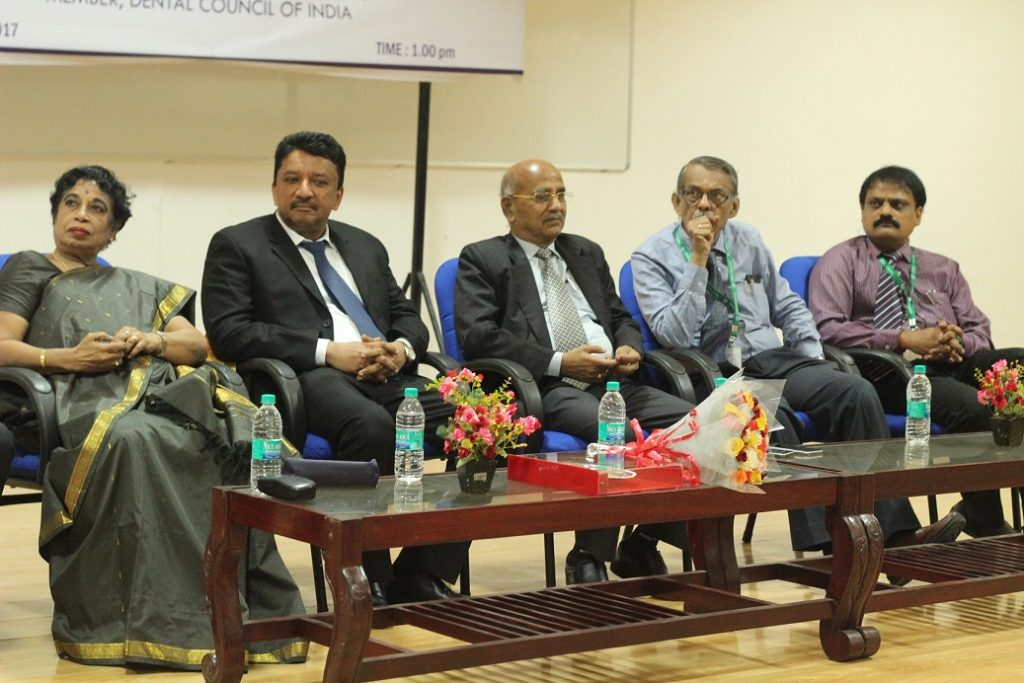 A view of the dignitaries on the dais
