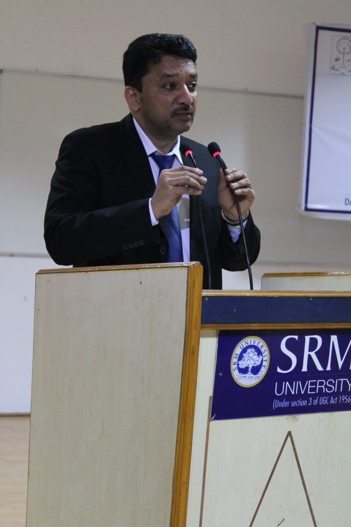 Dr Balaji's opening remarks while addressing the audience during his Students Orientation talk for medical and dental students
