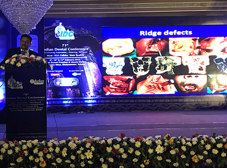 """Dr. Balaji's keynote speech on """"Principles and Practice of Vertical Ridge Augmentation by Grafting"""" at the IDC Conference in Bhubaneswar"""