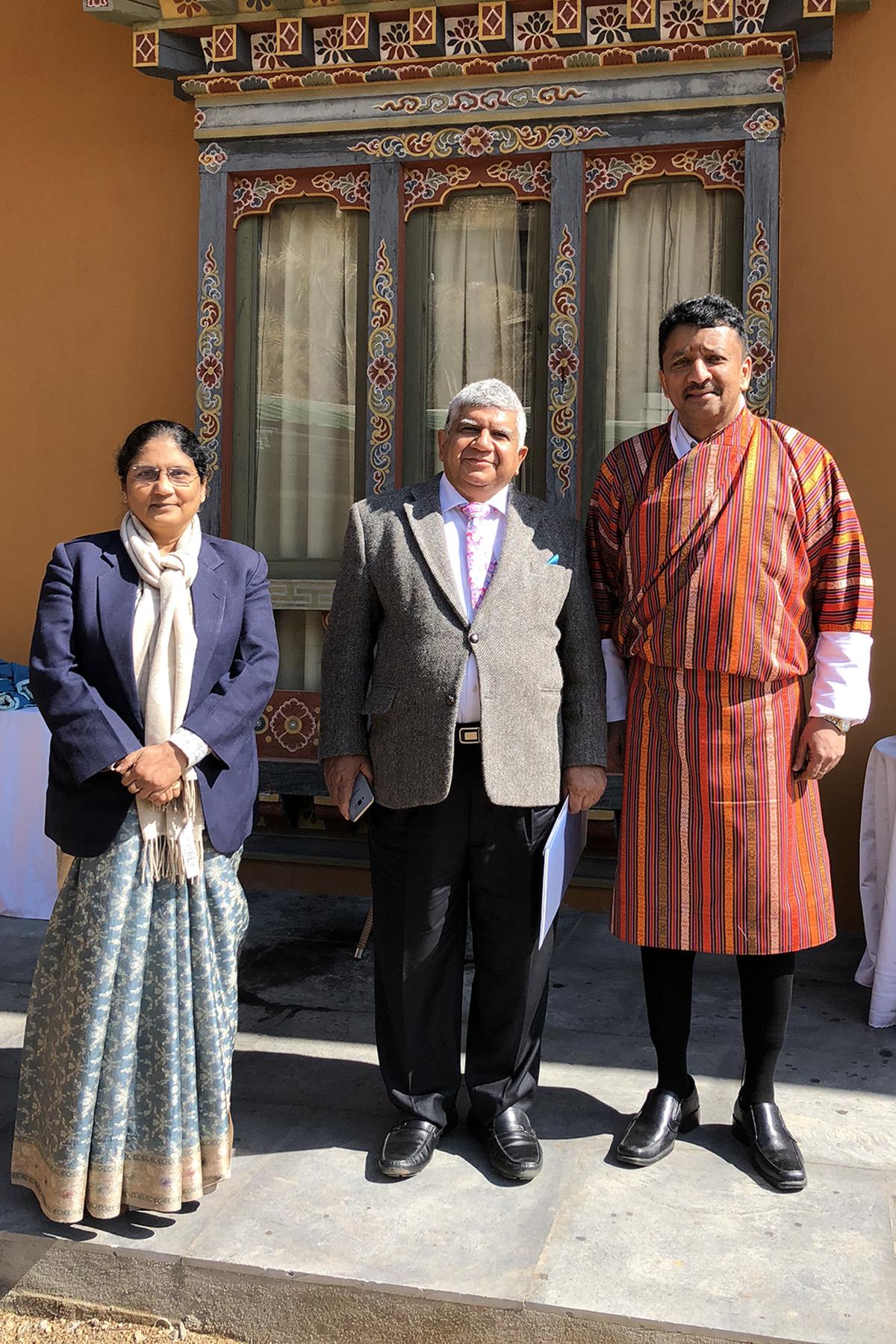 Mrs and Prof Ravi Kant with Prof S M Balaji