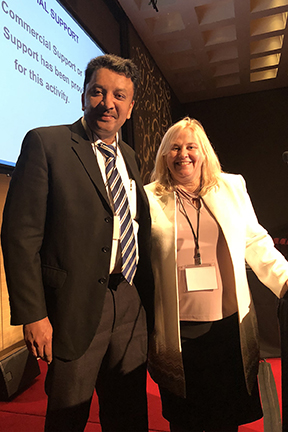 Prof S M Balaji with Dr Gail Knudson at the First Live Surgery Symposium of the WPATH A view of the Icahn School of Medicine at Mount Sinai, New York, USA