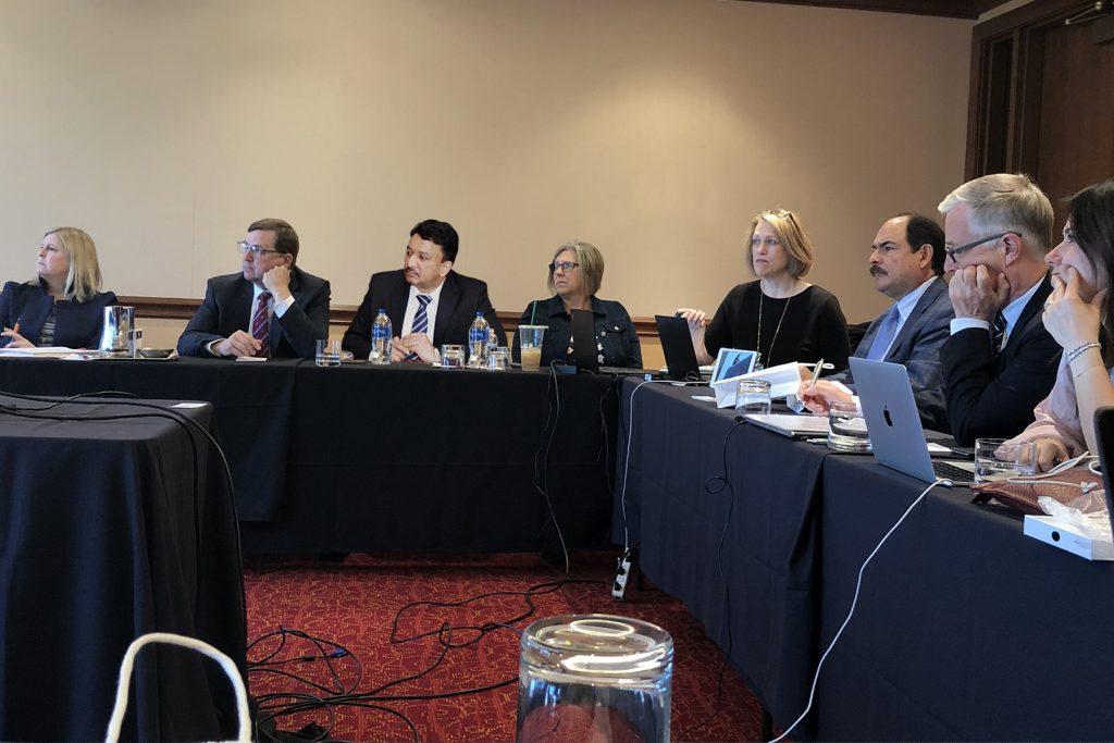 Dr SM Balaji at the FDI Education Committee midyear meeting at Cedar Rapids, Iowa