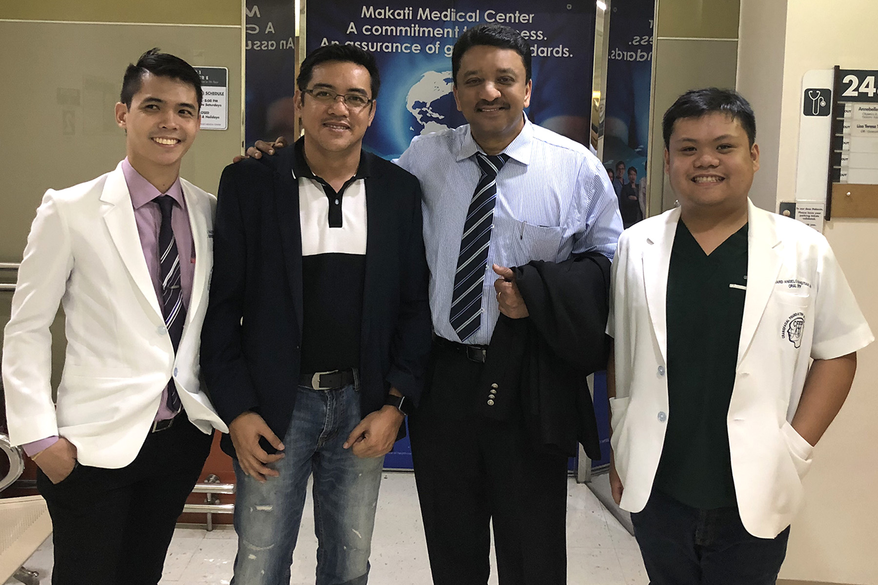 Prof SM Balaji with some of the oral surgery residents