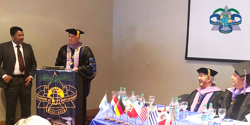 Dr SM Balaji attends the convocation of the Latin American chapter of the Academy of Dentistry International held at Buenos Aires