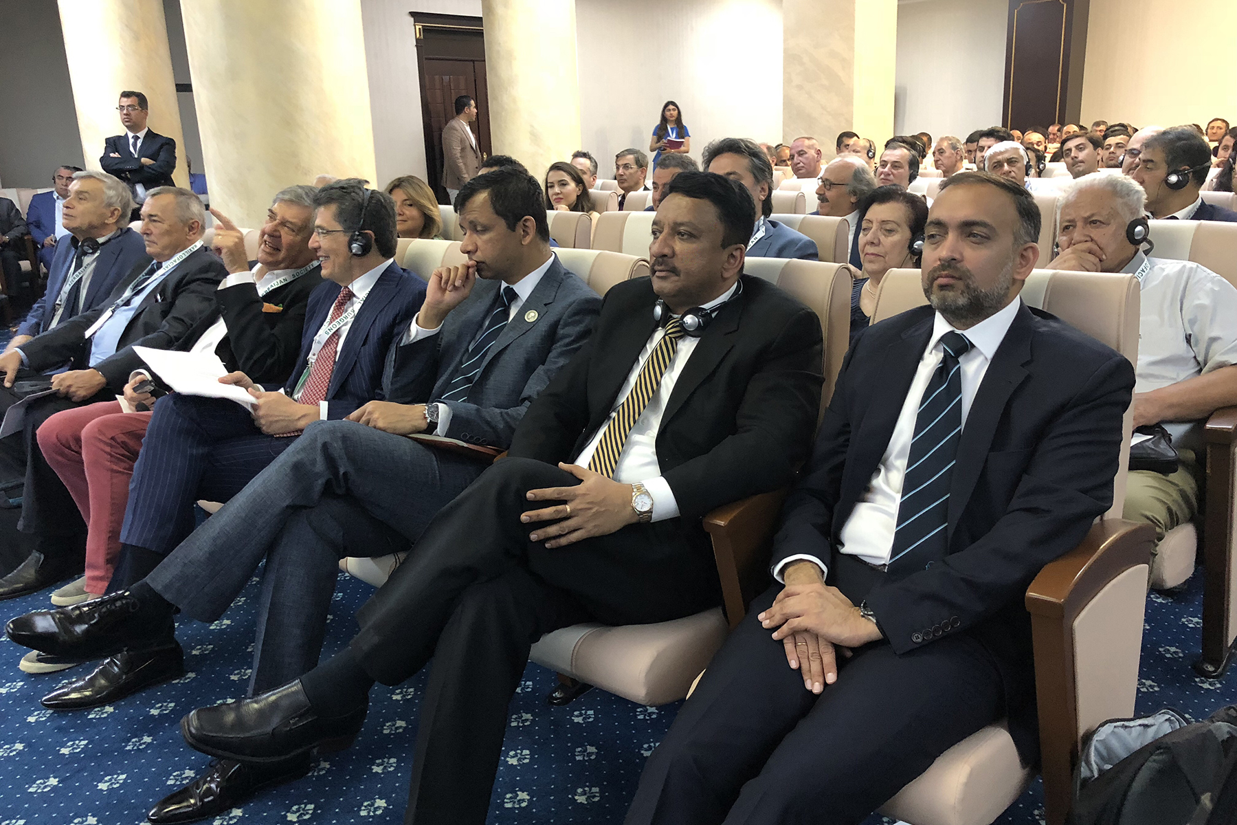 Dr SM Balaji seated with the audience after his ICPF presentation at Azerbaijan Society of Oral and Maxillofacial Surgeons (AzSOMS) presentation ceremony