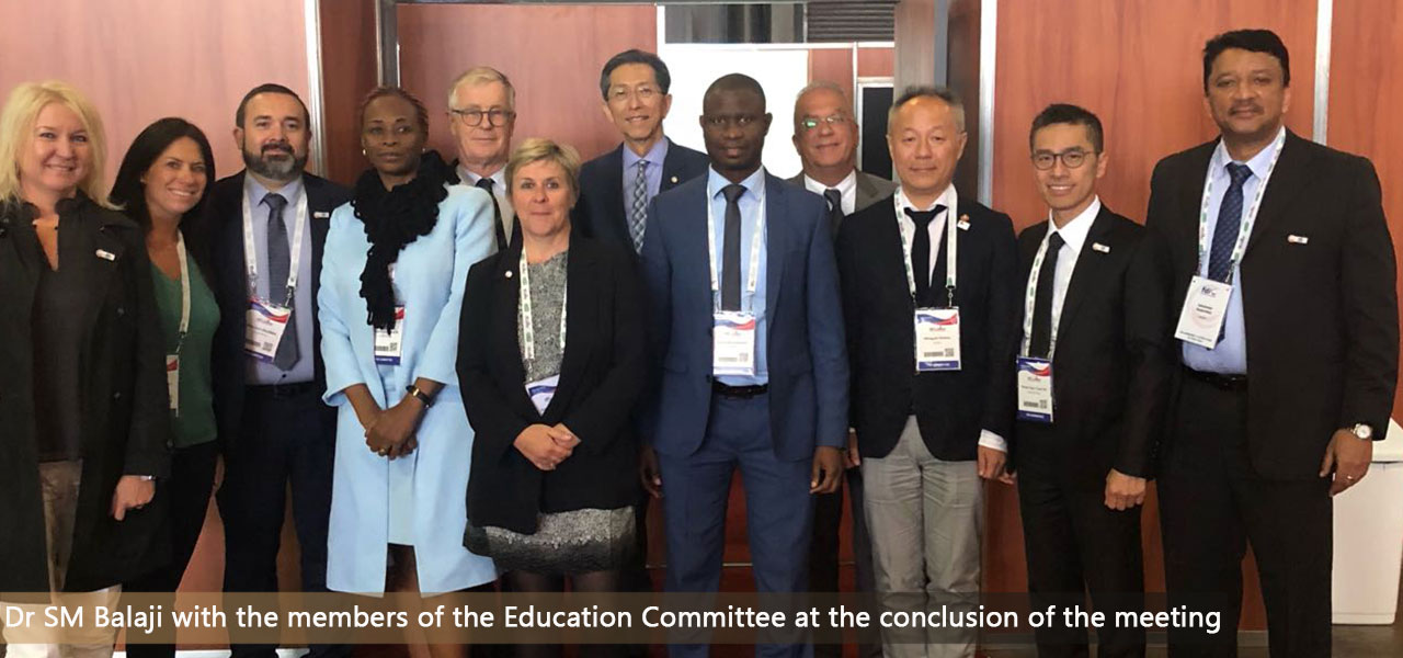 Members of the Education Committee at the conclusion of the meeting