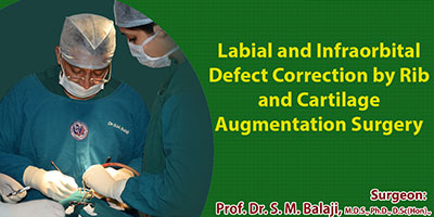 Maxillary augmentation, nasal notch correction and alar web correction surgery