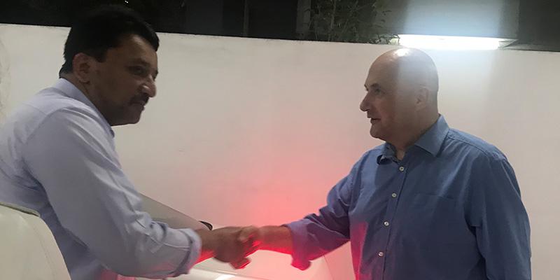 Dr Stefan Ihde visits Dr SM Balaji